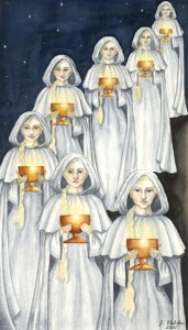 Seven of Cups, 2002-2003, Epilogue Tarot Project, Watercolor