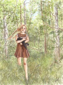 Flickan och Kråkan /The Girl and the Crow, 2004, Watercolor
