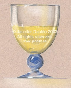 Glass, 1997, Product presentation drawing excercise. TRIA markers, dry pastels,coloured pencils, gouach...