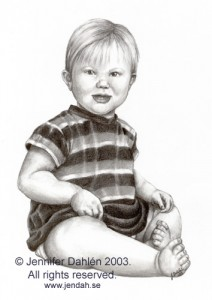 Baby, Summer 2003 Baby portrait made with photoreference... Pencil, 22*15,5cm