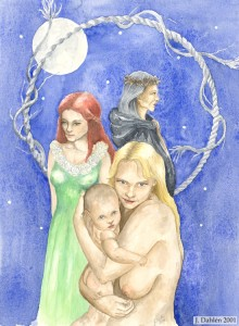 Women, 2001, Maiden, mother and crone... Watercolor